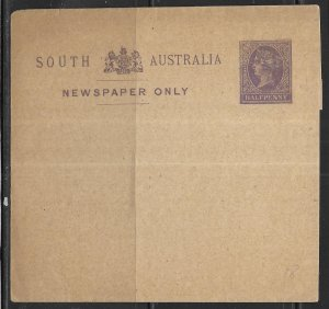 South Australia Postal Stationery Wrapper H&G 3 Unused