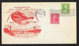 UNITED STATES Event Cover Commemorating Fort Lee 1932 Fort Lee