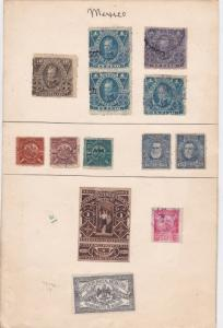 Mexico old revenue Stamps Ref 15499