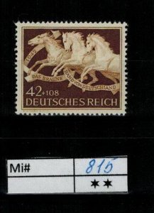 Deutschland Reich TR02 DR Mi 815 1939 Reich Postfrisch ** MNH