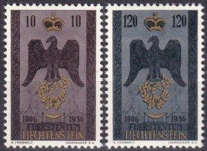 Liechtenstein #301-2 F-VF Unused CV $5.35 (Z5172)