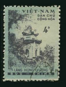 Viet Nam 120,CTO.Michel 124. 1960.Hung Vuong Temple.