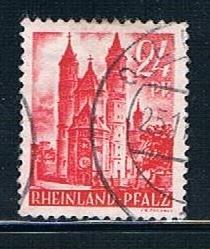 Germany Rheinland Pfalz 6N8: 24pf Worms Cathedral, used, VF