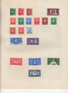 MOROCCO / TANGIER 2 ALBUM PAGES  VALUES MOSTLY 1937-55, MOUNTED MINT