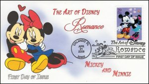AO-4025-2, 2006, The Art of Disney, Add-on Cover, First Day Cover, Pictorial,