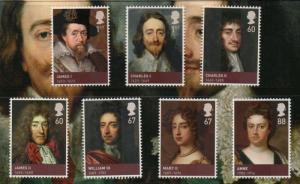Great Britain Sc 2807-13 2010 House of Stuart stamp set mint NH
