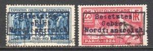 FRANCE GERMANY OCC DUNKIRK NORDFRANKREICH LOCAL OVPT POSTALLY USED x2 #2 SOUND