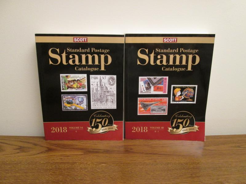 Scott 2018 Stamp Catalog Volume 3 A and B (photos of actual books for sale)