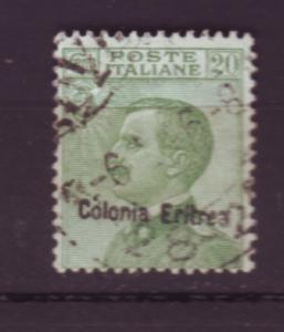J19817 Jlstamps 1908-28 italy eritrea used #38 ovpt