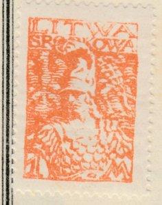 Central Lithuania Mittellitauen Lituanie Lituania 1920 1m MH* A8P11F124