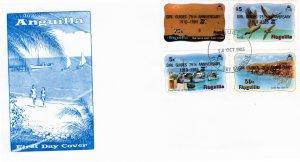 Anguilla 1985 Sc 640-3 Commemorative Perforate FDC