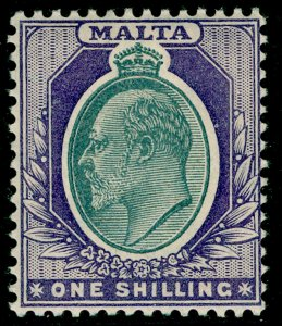 MALTA SG61, 1s grey & violet, M MINT. Cat £50.
