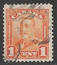 Canada 1928 King George V, 1 cent, Scott #149, used
