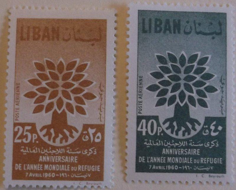 Lebanon C284-5 MNH Full Set Cat $2.25 Refugee Year, UN Topical