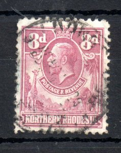Northern Rhodesia 1925-29 8d purple rose fine used SG8 WS16546