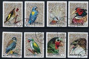 MANAMA Mi 1040-7  CTO BIN $2.50   BIRDS