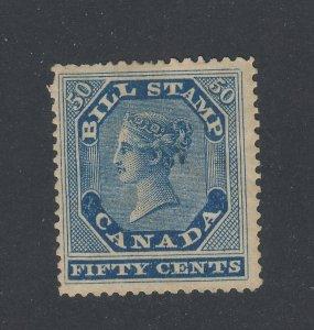 Canada Revenue Bill Stamps #FB14-50c MH Pinhole Guide Value = $160.00