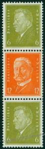 Germany 1932 Hindenburg Ebert Michel S47 MNH Se-Tenant 75909