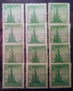 Germany Thuringen 94 mnh
