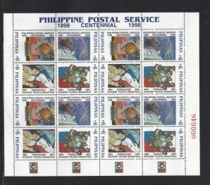 STAMP STATION PERTH Philippines #2555 Postal Service Centenary MNH Sheet of 16