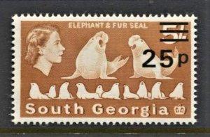 STAMP STATION PERTH -South Georgia #29 MNH OG VF Overprint Definitive Issue