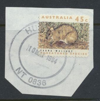 Australia SG 1327  Used on piece perf 11½ Threatened Species - Wallaby