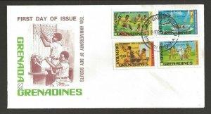 1982 Boy Scouts Grenada Grenadines 75th anniversary FDC