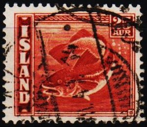 Iceland. 1939 25a S.G.250a Fine Used