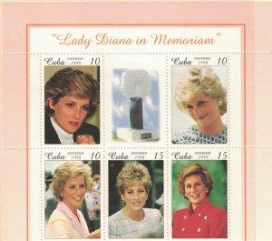 CUBA Scott #3937  1998 Diana, Princess of Wales,1961-97, MNH  Scv $ 12.50