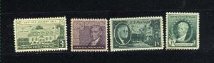 USA #884, 930, 1105, 1108  Mint NH VF .60