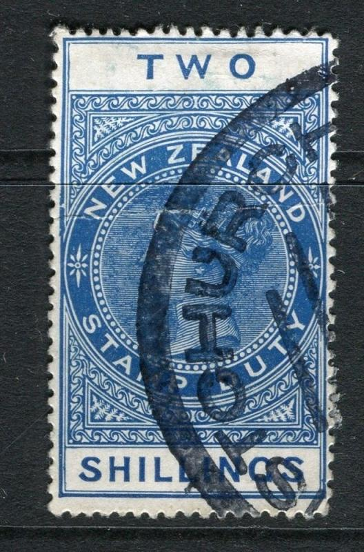 NEW ZEALAND;   Early 1900s Stamp Duty issue fine used 2s. value