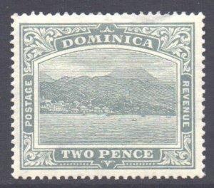 Dominica Scott 52 - SG49, 1908 Roseau 2d MH*