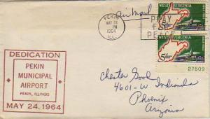 United States, Airmail, Event, Illinois