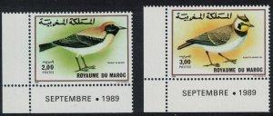 Morocco Wheatear Lark Birds 2v Corners SG#774-775 SC#680-681