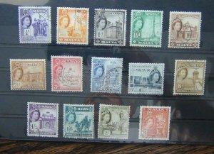 Malta 1956 - 58 set to 2/6 Fine Used
