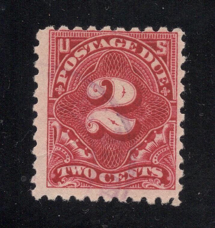 US# J60 - Rose - Perf. 10 (Unwatermarked) Postage Due - Used