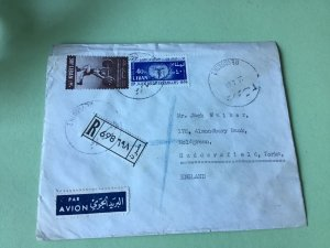 Beyrouth Lebanon 1968 Air Mail to England stamps cover Ref R22477