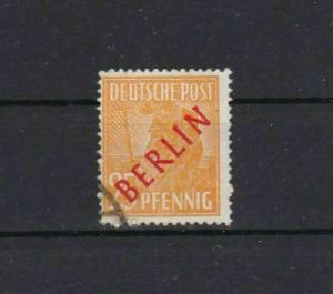 GERMANY BERLIN OVERPRINT 25 PF YELLOW ORANGE CAT £75+  REF 801