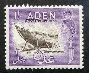 Aden, Scott #55A, Unused, Hinged
