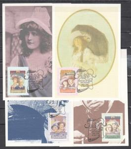 Australia, Scott cat. 1142-1145. Stage & Screen issue as Maximum Cards. ^