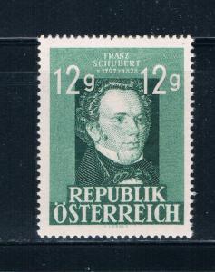 Austria 491 MNH Franz Schubert 1947 (A0234)+