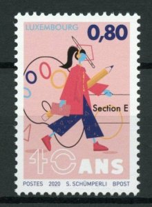 Luxembourg Art Stamps 2020 MNH Arts Section Secondary Education 40 Years 1v Set