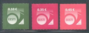 Estonia Sc 682-4 2011 posthorn stamp set in Euros mint NH