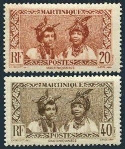 Martinique 140,145,MNH.Michel 132,136. Martinique women,1933.