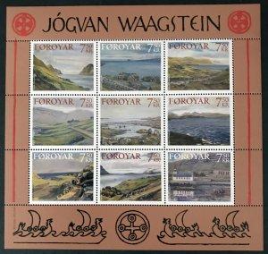 Faroe Islands - 2005- Landscapes by Joguan Waagstein MNH S/Sheet  # 462