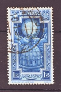 J22574 Jlstamps 1933 italy part of set used #313 cross