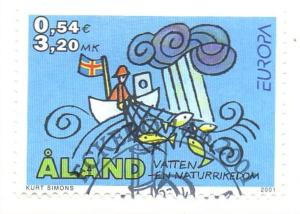 Aland Finland Sc 187 2001 Europa stamp used