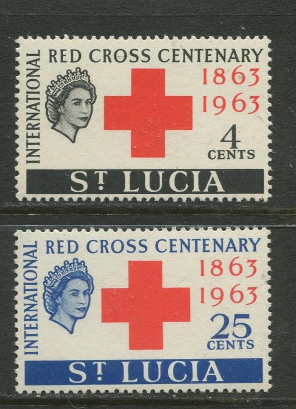 St. Lucia - Scott 180-81 - Red Cross -1963 - MNH - Set of 2 Stamp
