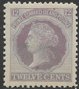 Prince Edward Island 16   1872  12  cents  fine mint - hinged