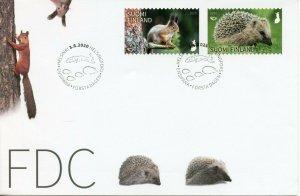 Finland Wild Animals Stamps 2020 FDC Norden Squirrels Hedgehogs Mammals 2v Set